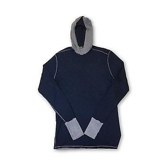 Agave Silver Anchor hooded knitwear in navy