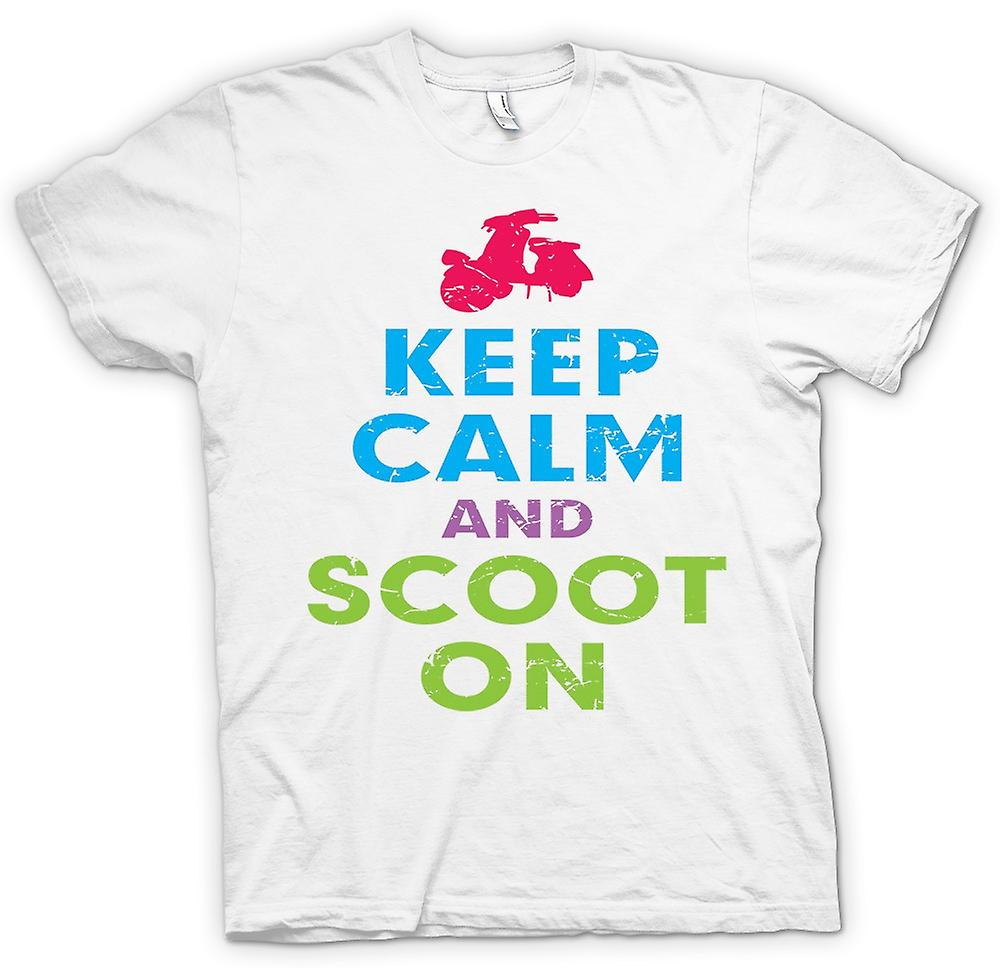 Mens T-shirt - Keep Calm And Scoot On - Vespa