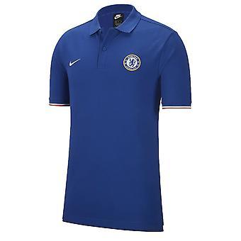 2019-2020 Chelsea Matchup core Polo shirt (blauw)
