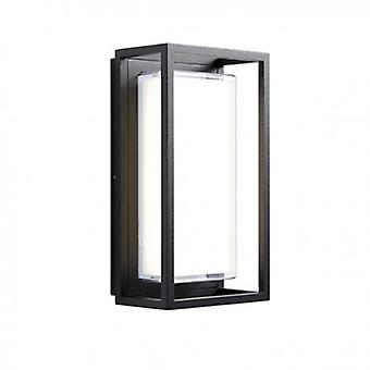 Integrated Led 1 Light Outdoor Wall Light Textured Black, Clear Ip44