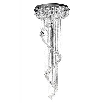 Diyas Colorado Pendant Multi-Spiral 24 Light Polished Chrome/Crystal