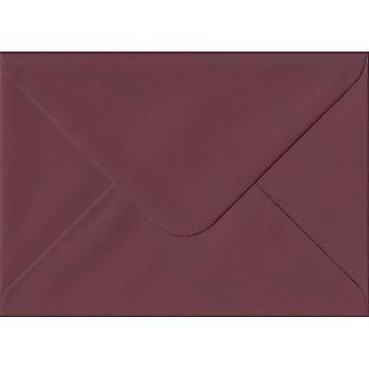 Bordeaux rouge gommé carte de voeux colorée des enveloppes rouges. 120gsm GF Smith Colorplan papier. 125 mm x 175 mm. banquier Style enveloppe.
