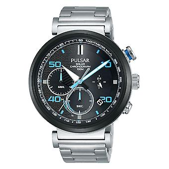 Press active Solar Analog Man watch with PZ5065X1 stainless steel bracelet