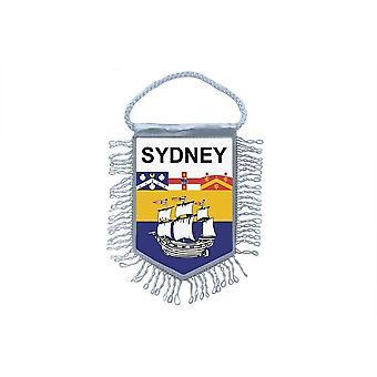 Fanion Mini Drapeau Pays Voiture Decoration Souvenir Blason Sydney Australie