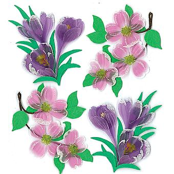 Jolee's Boutique Spring Easter Stickers Dogwood And Crocus Flowers E5020525