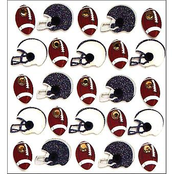 Jolee's Mini Repeats Stickers Footballs And Helmets E20742