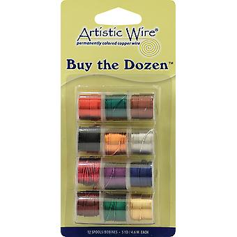 Buy The Dozen Colored Copper Wire 5 Yards 12 Pkg 26 Gauge Dark Btd 26