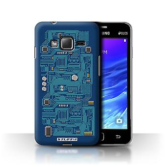 STUFF4 Case/Cover for Samsung Z1/Z130/Blue/Circuit Board