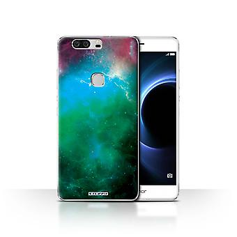 STUFF4 Case/Cover for Huawei Honor V8/Green Nebula/Space/Cosmos