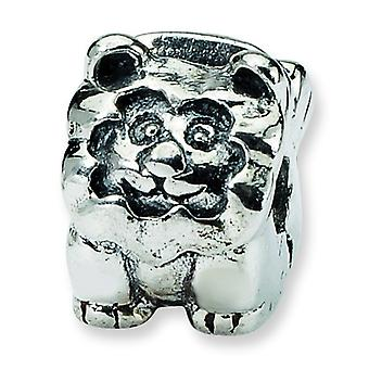 Sterling Silver Hinged Antique finish Reflections Kids Lion Clip Bead Charm