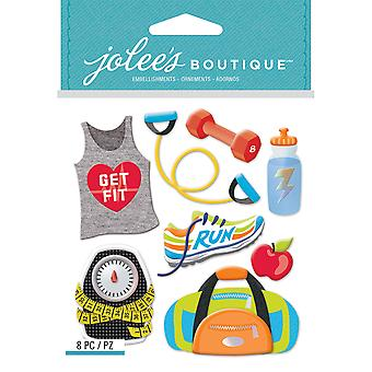 Jolee's Boutique Dimensional Stickers-Get Fit E5021956