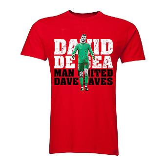 David De Gea Man United Goalkeeper T-Shirt (Red)