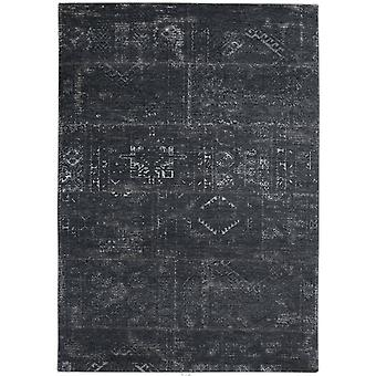 Distressed Atlantic Deep Tribal Flatweave Rug 230 x 230  - Louis De Poortere