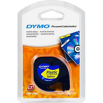 DYMO LetraTAG tapes, yellow, 12 mm, 4 m (91222)