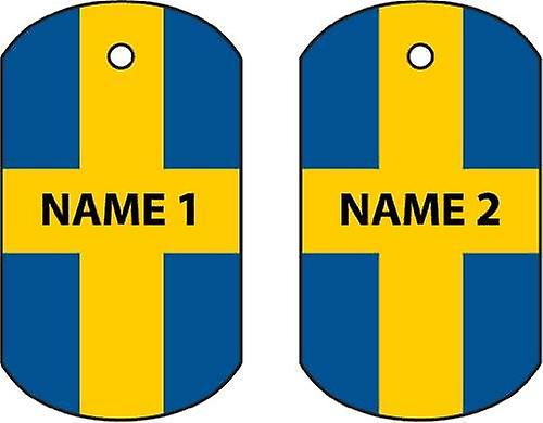 Personalised Sweden Dog Tag Car Air Freshener