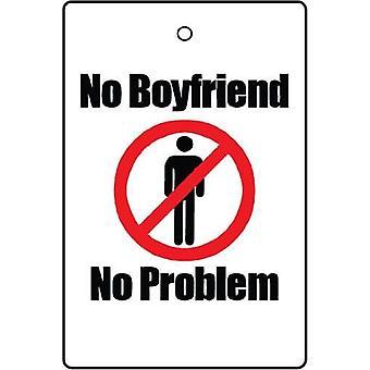 No Boyfriend, No Problem Car Air Freshener