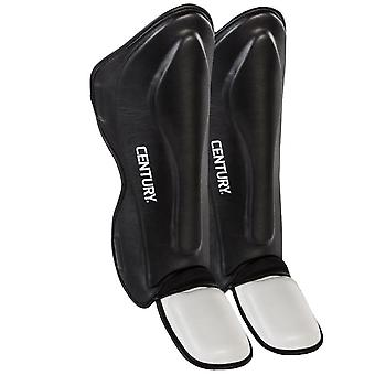 Century Creed Traditional MMA Shin Instep Guards - Black/White -pads Thai boxing
