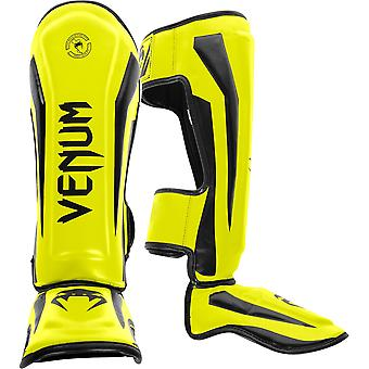 Venum Elite Standup MMA Shin Guards - Neo Yellow
