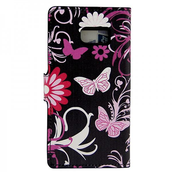 Cover wallet pattern 4 for Samsung Galaxy S6 G920 G920F