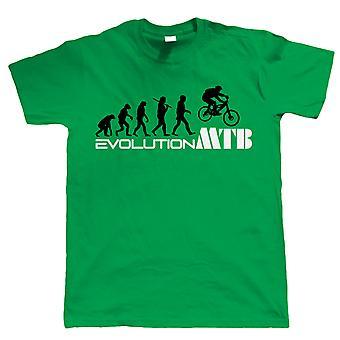 Vectorbomb, Evolution Of Mountain Biker, Mens Funny Bike Tshirt