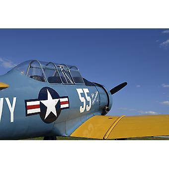 A BT-15 Valiant aircraft built by Vultee Aircraft Poster Print