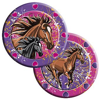 Horses kids party plates 8 piece children's birthday party plates