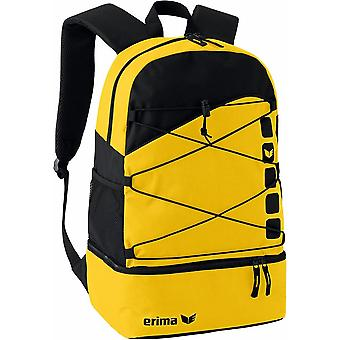 Erima multi functional backpack Club 5 with bottom compartment yellow - 723343