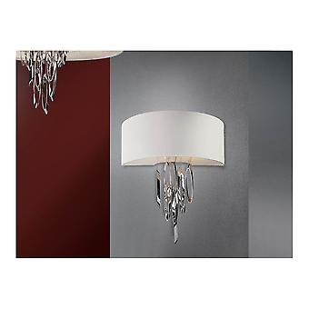 Schuller Domo Wall Lamp 2L, Chrome