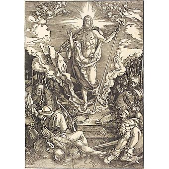 Albrecht Durer - The Resurrection Sketch Poster Print Giclee