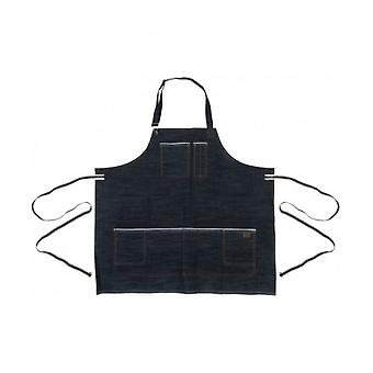 DICKIES Work Apron - Raw Denim Darkwash One Size Pockets