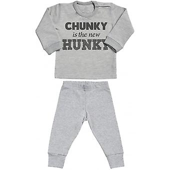 Spoilt Rotten Chunky Is Hunky Sweatshirt & Jersey Trousers Baby Outfit Set