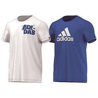 ADIDAS classic twee pak basketbal t-shirts [blauw/wit]