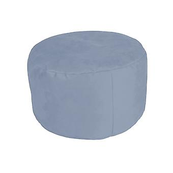 Stool seat footstool Pouffe about ALKA light blue 34 x 47 x 47 cm
