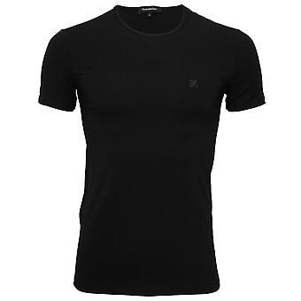 Ermenegildo Zegna Stretch Cotton Crew-Neck T-Shirt, Black