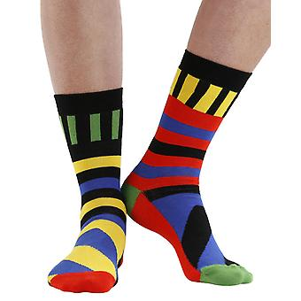 Distortion combed cotton multicolour odd-socks | By seriouslysillysocks