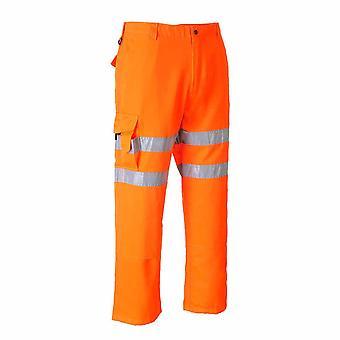 Portwest - Rail spor siden Hi-Vis sikkerhet Workwear kamp bukser