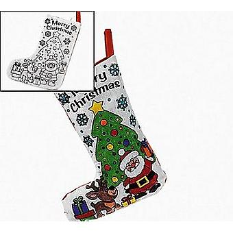 SALE - 12 Fabric Christmas Scene Stockings for Fabric Painting