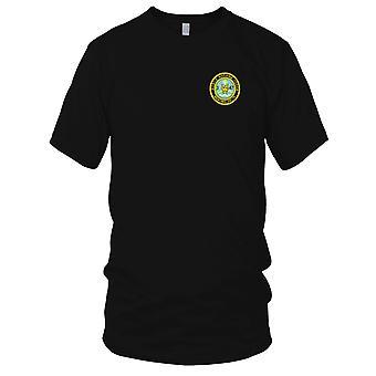 Ejército de los E.E.U.U. - 3ro batallón 47 infantería regimiento de la fuerza fluvial móvil bordado parche - para hombre T Shirt