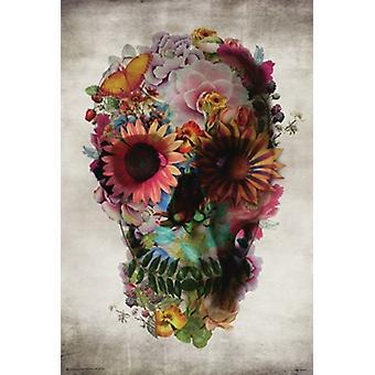 Flower Skull - Ali Gulec Poster Poster Print