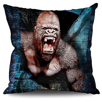 Monkey Monkey Animal Linen Cushion Monkey Monkey Animal | Wellcoda