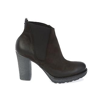 Donnapiu' women's 7931NERO brown leather ankle boots