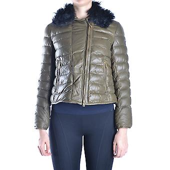 Peuterey women MCBI235044O green leather Quilted Jacket