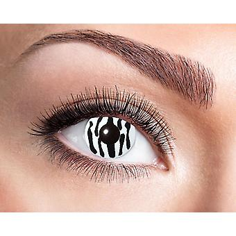 Zebra black white contact lenses