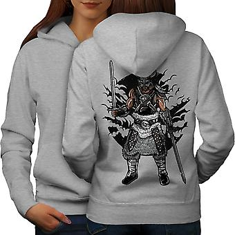 North Warrior Women GreyHoodie Back | Wellcoda