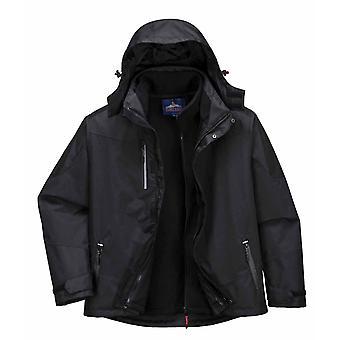 PORTWEST - radiale 3 in 1 giacca impermeabile di abbigliamento da lavoro