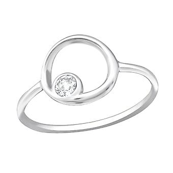 Round - 925 Sterling Silver Jewelled Rings - W27266X
