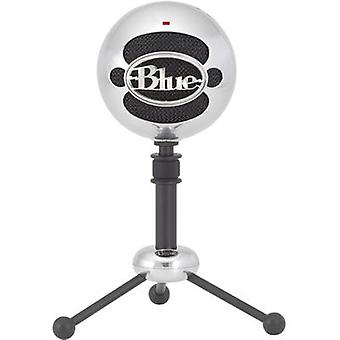 USB studio microphone Blue Microphones Snowball Brushed Alu Corded incl. cable, Stand