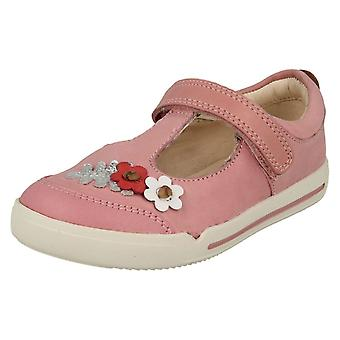 Girls Clarks Casual T-Bar Shoes Mini Blossom