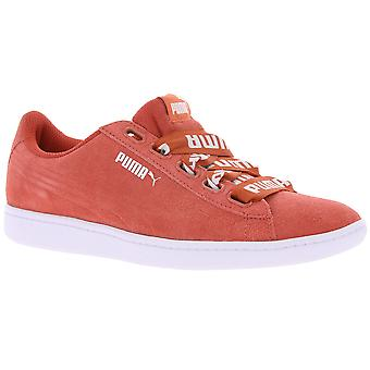 PUMA leather sneaker women Vikky Ribbon bold red