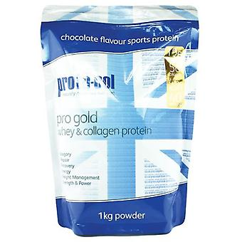 Proto-col Pro Gold Whey and Protein Powder Sabor Chocolate 1 Kg